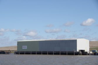 Erith Reach lower landfill barge dock