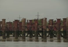 Thames side Kent: Gallion's Reach, Woolwich Reach, North Woolwich, 2017