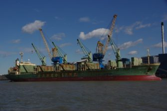 Raw sugar import, there used to be a dedicated fleet but now it's chartered in, various lines.
